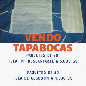 Tapaboca descartable y de tela algodón
