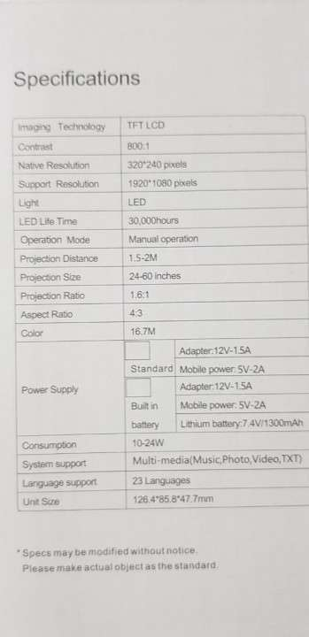 Mini proyector LED de 24 a 60 pulgadas con control - 4