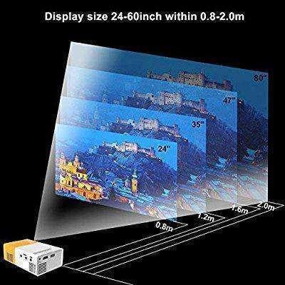 Mini proyector LED de 24 a 60 pulgadas con control - 8