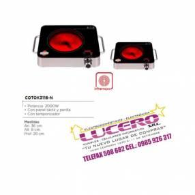 Placa infrarroja - tokyo - 2000w - con medidor de tiempo.