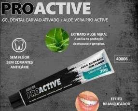 Gel Dental Blanqueador con Carbón activado y Aloe Vera