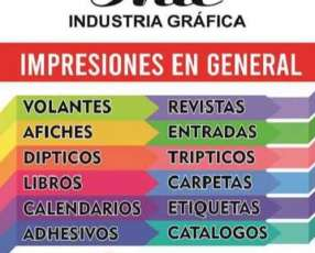 Confección de afiches catálogos revistas trípticos