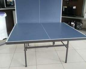 Mesa de Ping Pong con Rueditas y Accesorios