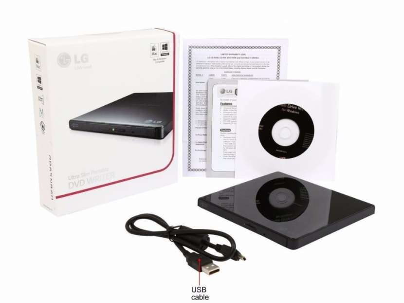 DVD-RW externo LG negro - 0