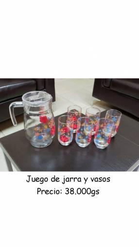 Juego de jarra y vasos