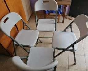 Mesas y sillas plegable