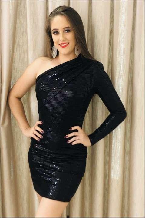 Vestido com paetês Morena Rosa Tamanho M - 0
