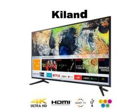 Smart tv 4K Kiland 75 pulgadas con 2 controles y soporte de pared