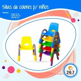 Sillas de colores para niños