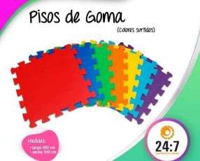 Pisos de goma en colores varios