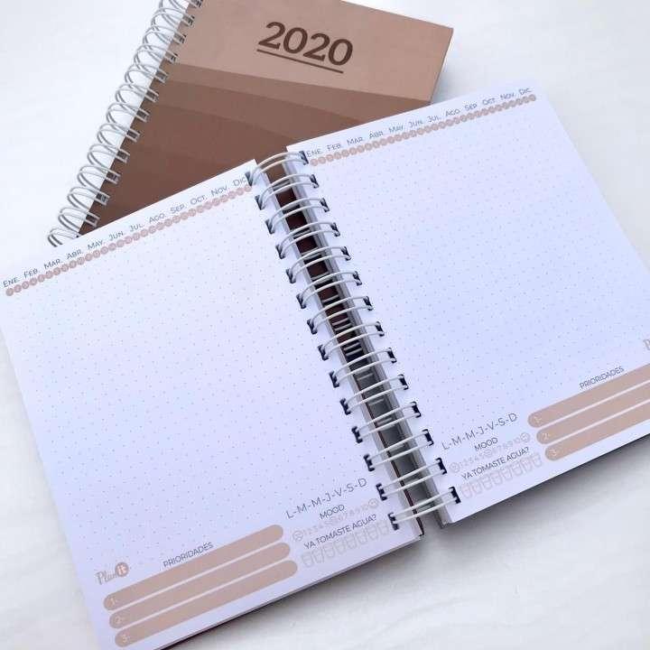 Combo solidario agenda unisex y planner mensual 2020 - 2