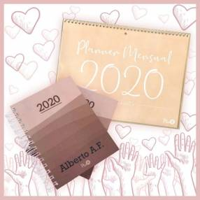 Combo solidario agenda unisex y planner mensual 2020