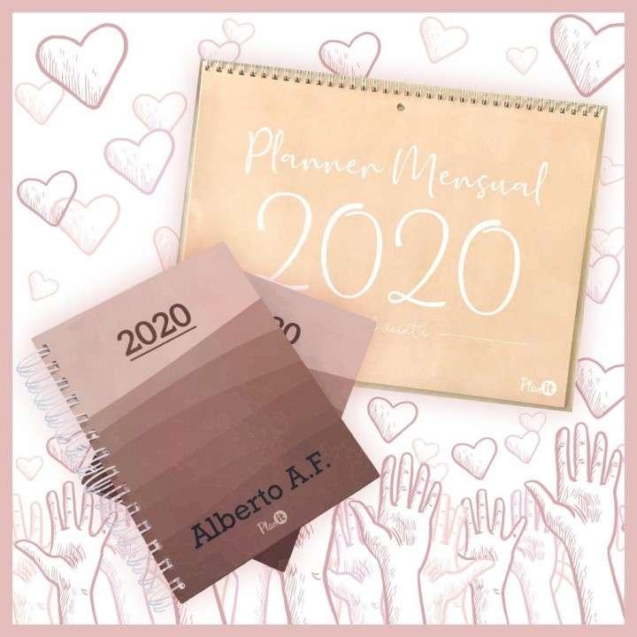Combo solidario agenda unisex y planner mensual 2020 - 0