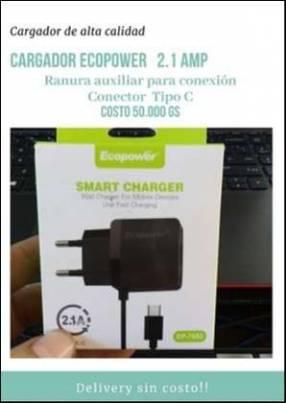 Cargador Ecopower con salida de carga tipo C