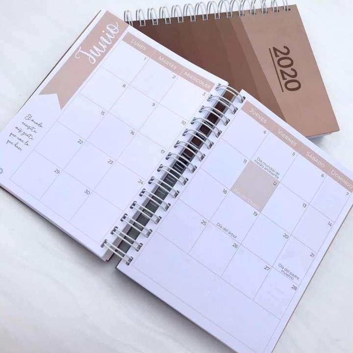 Combo solidario agenda unisex y planner mensual 2020 - 3