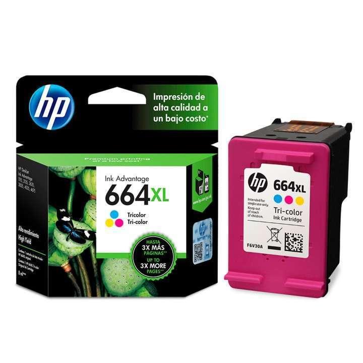 Tinta HP CF6V30AL 664XL color - 0