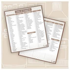 Lista de compras Marrón