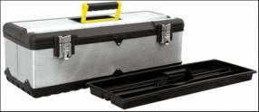 Caja de herramientas acero Inox. y Plast. 24