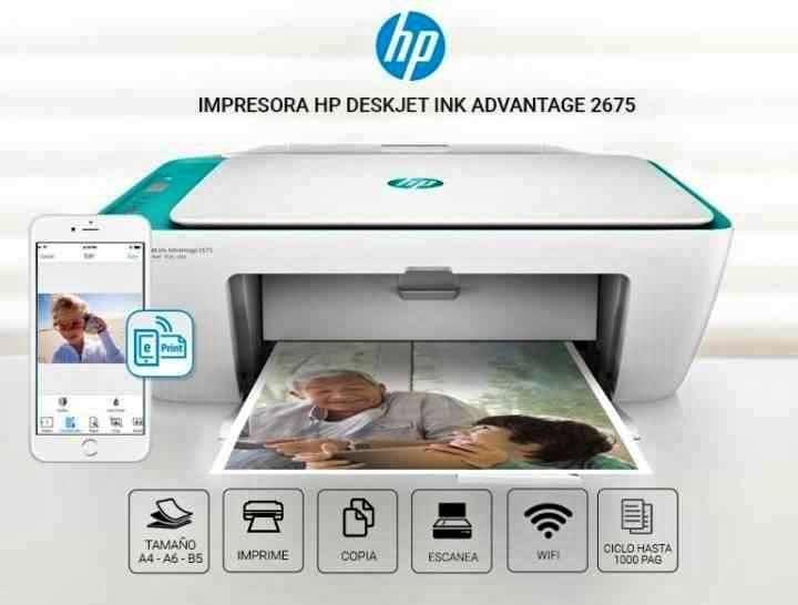 Impresora multifunción HP 2675 wifi - 0