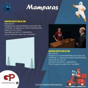 Mamparas en apoyo a protección de sanidad laboral