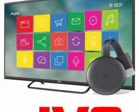 Tv JVC 32 pulgadas más chromecast Netflix, Youtube