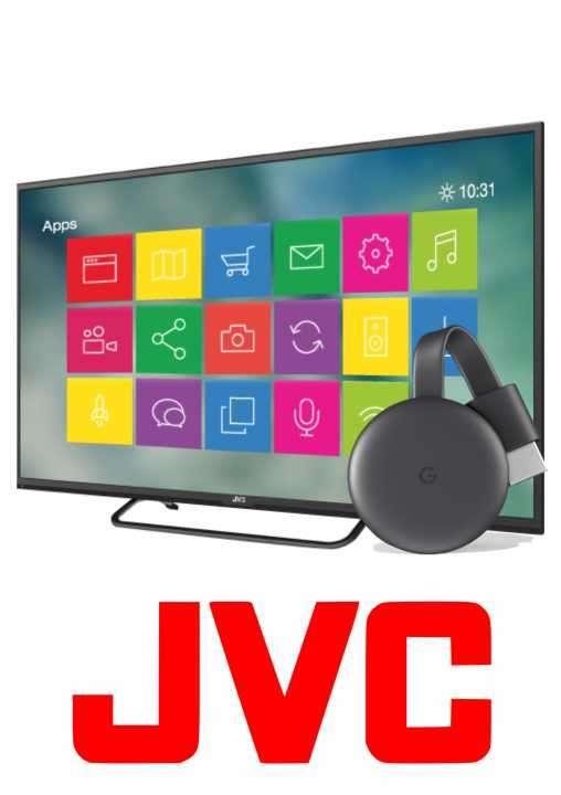 Tv JVC 32 pulgadas más chromecast Netflix, Youtube - 0