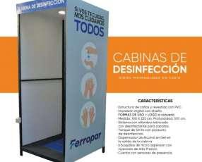 Cabinas sanitarias de desinfección