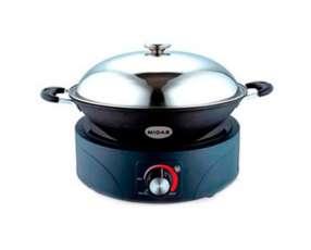 Cocina a inducción Midas 1 hornalla MD-PI230 con olla Wok 2000W