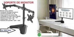 Soporte para 2 monitores de 2 brazos