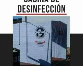 Cabina de desinfección