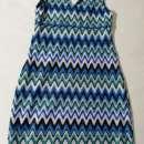 Vestido de poliéster talle S azul con detalles - 1