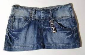 Pollera de jeans de cadera talle M azul