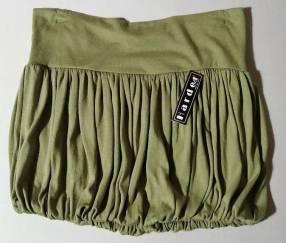 Pollera minifalda de cadera algodón talle M verde