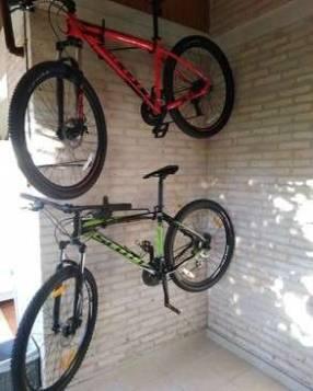 Porta bici de pared en paralelo