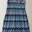 Vestido de poliéster talle S azul con detalles - 0