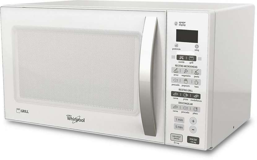 Microondas Whirlpool 20 litros WMS20GWUPB blanco con grill 700W - 0
