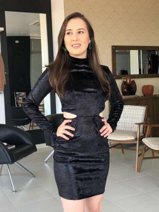 Vestido corto negro Morena Rosa talle PP - 0