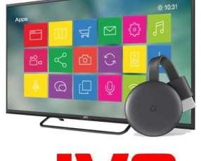 Tv JVC 32 pulgadas más Chromecast 3 Netflix Youtube