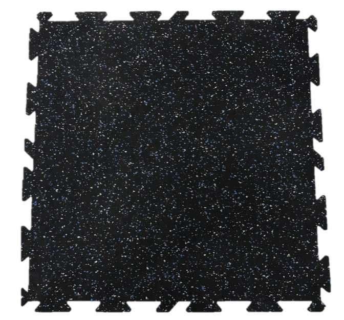 Piso de caucho encastrable 5 mm para gimnasio - 1