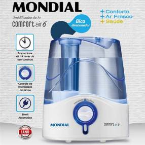 Humidificador ultrasónico de aire 4 litros Mondial Air 6