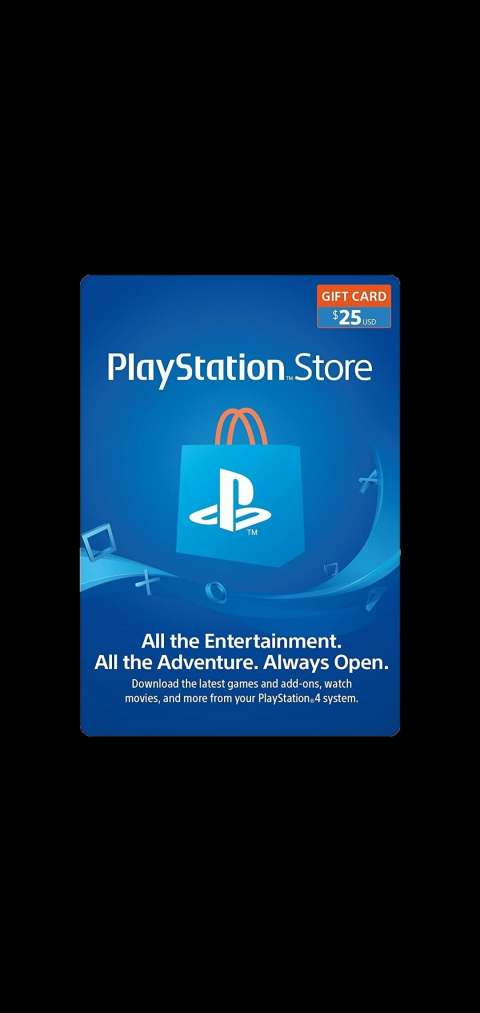 Play Station Gif Card Psn store 25$