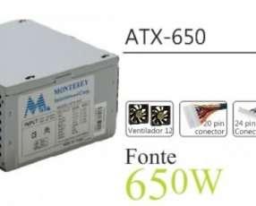 Fuente 650W Mtek (24+4 P) YQ650 real 430 Watts