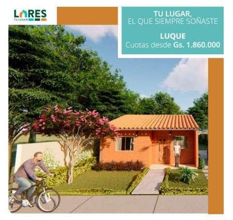 Casas en construcción en Luque + terreno 12 x30 metros