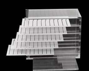 Cajitas de acrilico para extensiones de pestañas