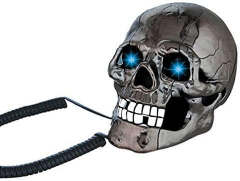 Cráneo teléfono con luces