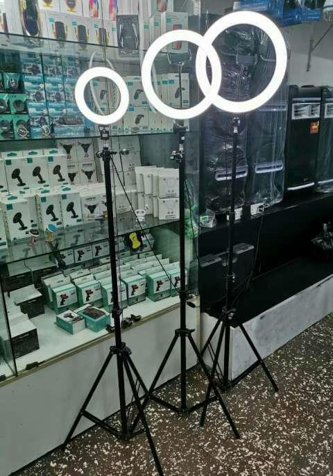 Aro led 33 cm con trípode y portacelular - 2