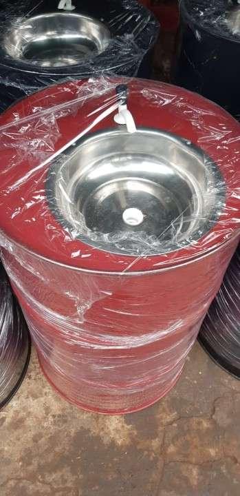 Lavamanos portatil de tambor - 0