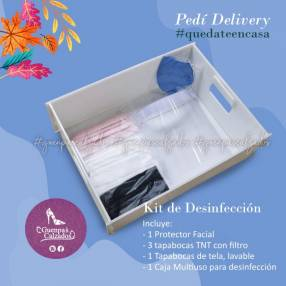 Caja para desinfectar calzados y utensilios