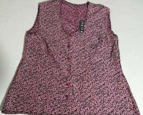 Blusa estampada de algodón y poliéster talle XL