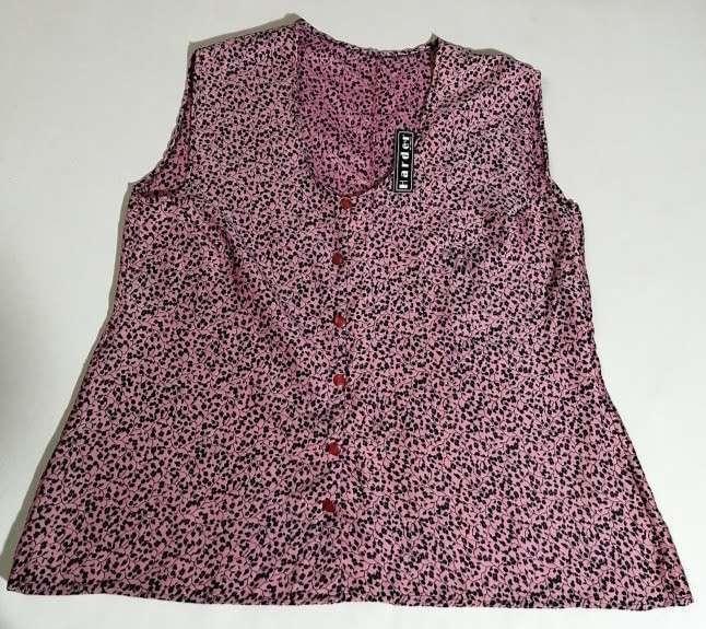 Blusa estampada de algodón y poliéster talle XL - 0
